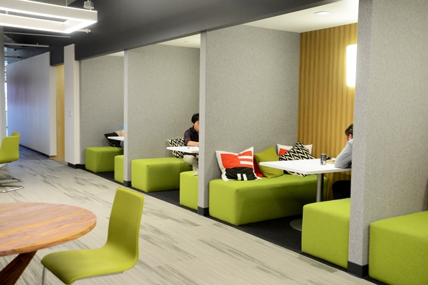 Square trade s open plan space - Colors for small spaces plan ...